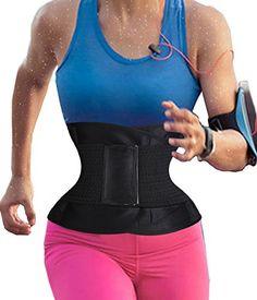 1e60139a0a Womens Waist Trainer Belt Hot Sweat Body Shaper Belt For An Hourglass  Shaper L Black