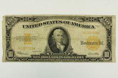 1922 Ten Dollar 10 Dollar Bill Gold Certificate Large Note F-1173 Gold Seal