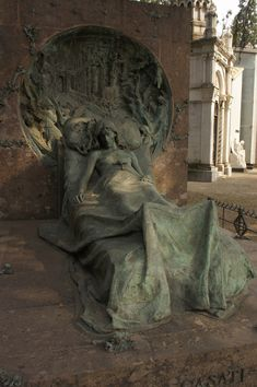 Cemetery Sculpture at Rest