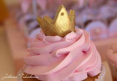 Cupcakes at a Disney Princess Party via Kara's Party Ideas   Kara'sPartyIdeas.com #DisneyPrincess #PartyIdeas #Supplies #SnowWhite #Cinderella #cupcakes