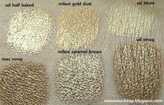 Antique Gold Eyeshadows Swatch