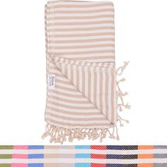 Beige Striped Turkish Towel - Naturally Dyed 100% Cotton - 70x39 inches - Beach Towel Bath Pool Yoga Pilates Picnic Blanket Scarf Peshtemal Hammam Fouta. For product & price info go to:  https://all4hiking.com/products/beige-striped-turkish-towel-naturally-dyed-100-cotton-70x39-inches-beach-towel-bath-pool-yoga-pilates-picnic-blanket-scarf-peshtemal-hammam-fouta/
