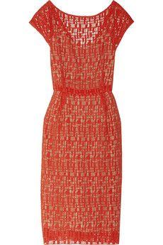 Lela Rose Geo-Lace dress | THE OUTNET