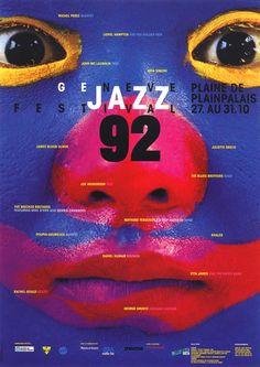Genève Jazz Festival - Atelier Roger Pfund Communication visuelle sa