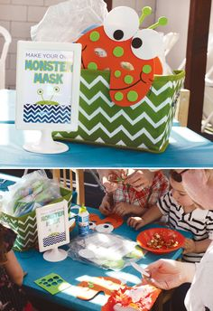 Monster Party: Make your own monster mask - craft idea.