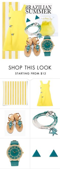 """""""Create Your Own Sunshine"""" by imcalledkenzie ❤ liked on Polyvore featuring Christian Lacroix, Marni, OLIVIA MILLER, Lizzy James, Wolf & Moon, pinafores and 60secondstyle"""