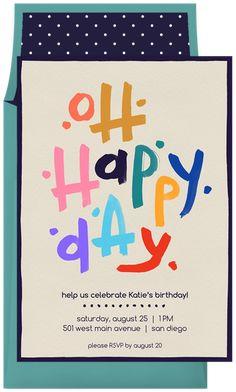 Oh Happy Day by Rachel Roe Art @Greenvelope
