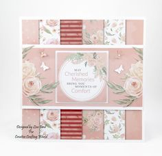 Handmade Card : This card has been made using Misty Morning Collection from Creative Crafting World