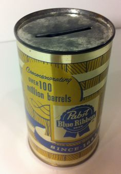 1958 Pabst Blue Ribbon Commemorative Coin Bank by Dust2Den on Etsy, $15.00