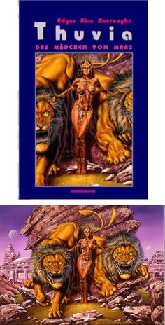 JOE JUSKO - Thuvia Das Mädchen vom Mars by Edgar Rice Burroughs - 1996 Kranichborn - cover by isfdb - print by joejusko. Fantasy Girl, Dark Fantasy, Conan The Conqueror, A Princess Of Mars, John Carter Of Mars, Warrior Paint, Fantasy Book Covers, Dungeons And Dragons Homebrew, Frank Frazetta