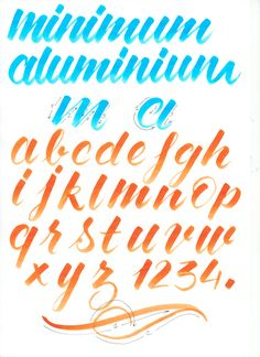 Discover recipes, home ideas, style inspiration and other ideas to try. Caligraphy Alphabet, Hand Lettering Alphabet, Doodle Lettering, Typography Letters, Brush Lettering, Lettering Styles, Calligraphy Tutorial, Hand Lettering Tutorial, How To Write Calligraphy