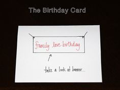 DIY: Arrested Development Themed Birthday Card