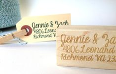 Return Address Stamp. Custom Rubber Stamp. Personalized  Address Label. Hostess Gift Idea. via Etsy