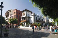 Los Llanos de Aridane, Typical view of the streets, with usual daily activity. La Palma Islas Canarias