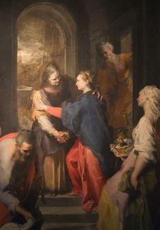 Federico Barocci, Visitazione, 1583, Chiesa nuova, Roma. Dinanzi a questa tela, S. Filippo Neri amava pregare e spesso entrava in estasi