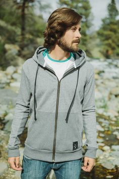 Men's Bighorn Hoodie - Whether you are keeping the cold or the sun at bay, our Bighorn Hoodie is there for you. Easy movement from stretch French Terry Cotton. There is no need to tradeoff function for comfort. Dolly Varden, Grey Zip Ups, Outdoor Outfit, French Terry, Hooded Jacket, Hoodies, Sweaters, Cotton, Jackets