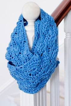 Infinity Scarf Crochet Pattern via Hopeful Honey