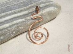 Anhänger Spirale - Bild vergrößern Handmade Wire Jewelry, Shops, Copper, Handarbeit, Jewerly, Photo Illustration, Tents, Retail