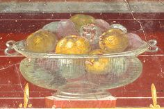 Oplontis: Roman glass (!) bowl with fruits by petrus.agricola, via Flickr