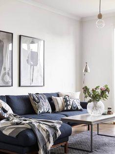 Virlova Interiorismo: [Interior] Azul vintage y madera envejecida