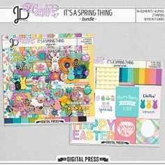 It's a Spring Thing | Digital Scrapbook Bundle by Juno Designs and Wendy P Designs