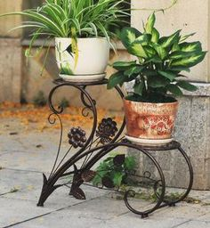 Buy New Iron Flower Pots Rack Balcony Indoor Flower Racks Flower Plant Stands Garden Decor Metal Crafts Art Accessory Free Shipping in Cheap Price on m.alibaba.com