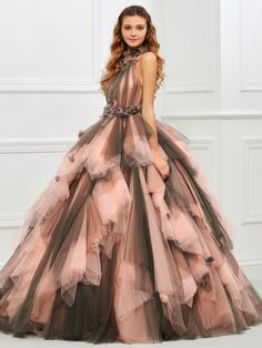 Two Tone Ruffled Ball Gown Crazy Dresses, Shrug For Dresses, Tight Dresses, Quinceanera Dresses, Prom Dresses, Formal Dresses, Long Dresses, Elegant Dresses, Beautiful Dresses