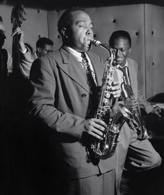 Charlie Parker - aka Bird/Yardbird - best alto sax man - and creator of bebop. LOVE him!!!