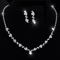 Cheap jewelry set box, Buy Quality jewelry set directly from China jewelry iphone Suppliers:                Silver Tone Crystal Tennis Choker Necklace Set Earrings Factory Price Wedding Bridal Bridesmaid African J