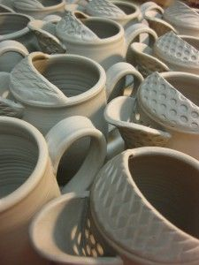 Gary Jackson textured creamers, pitcher style. Mugs And Jugs, Clay, Ceramics, Pottery Ideas, Tableware, Jackson, Decorations, Create, Artwork