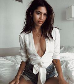 @juliherzz in the Cierra wrap blouse #ayai