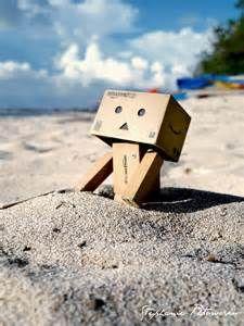 Danbo - beach!! | Danbo | Pinterest