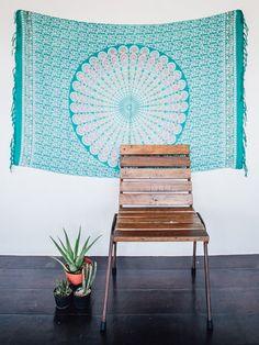 Seafoam Beach Boho Sarong, Wrap, Blanket, Wall Hanging, Tapestry, Scarf