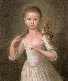 1770 Attributed to Cosmo Alexander (1724-1772). Girl with a Squirrel.