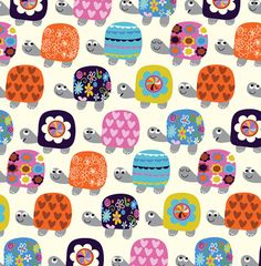 Fat Quarter Whimsical Tortoises Cotton Quilting Fabric - Dashwood Studio in Crafts, Sewing & Fabric, Fabric Cute Tortoise, Tortoise Turtle, Pochette Diy, Motifs Animal, Turtle Pattern, Turtle Love, Cotton Quilting Fabric, Patchwork Fabric, Tortoises