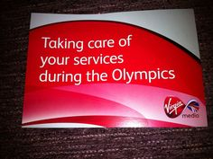 4358d6f98e45 Virgin Media apologises in advance for Olympic issues