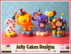 Circus Animal cake toppers by Jelly Cakes, via Flickr