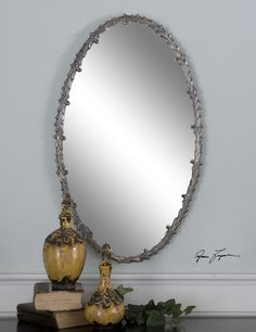 Uttermost Costano Silver Leaf Oval Mirror