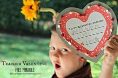 Teacher Valentine Free Printable