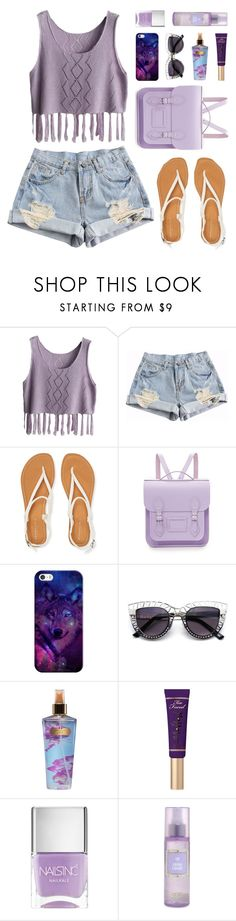 """all my life"" by bestraan ❤ liked on Polyvore featuring Aéropostale, The Cambridge Satchel Company, Casetify, Victoria's Secret, Too Faced Cosmetics and Nails Inc."