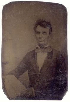 tuesday-johnson: ca. [ninth-plate copy tintype of the lost Polycarpus Von Schneidau daguerreotype of Lincoln, taken in Chicago in via The Rail Splitter Abraham Lincoln, Lincoln Life, Mary Todd Lincoln, Lincoln Quotes, American Presidents, American Civil War, American History, Dead Presidents, Black Presidents