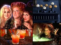 Hocus Pocus Halloween menu: Who doesn't love Hocus Pocus? Make your party Hocus Pocus themed this year with salted caramel popcorn balls and witches' brew cocktails. #hocuspocus