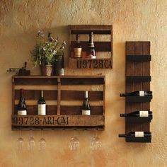 This wine rack turns your favorite vintages into a display piece. Store your…