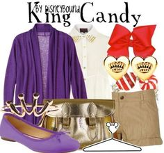 disneybound: King Candy from wreck it Ralph