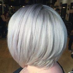 Layered+Silver+Blonde+Bob