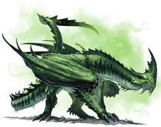 Ancient Green Dragon by BenWootten.deviantart.com #art #painting