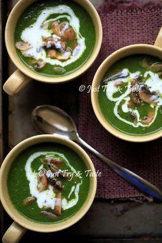 Sup Krim Brokoli dengan Jamur