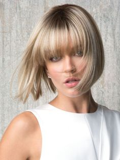 Wavy Bob Hairstyles, Frontal Hairstyles, Long Bob Haircuts, Ombre Blond, Balayage Blond, Blonde Bobs, Blonde Wig, Dark Blonde, Blonde Bob With Bangs