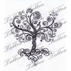 swirls tree tattoo – I don't think I will ever get a tattoo but if I did it would be a tree like this. It reminds me of family.
