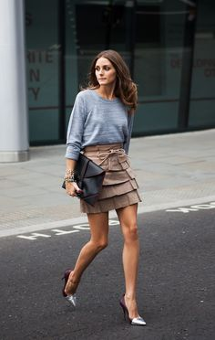 dustjacket attic: Stripes + Florals + Ruffles, god, I love love love Olivia Palermo.